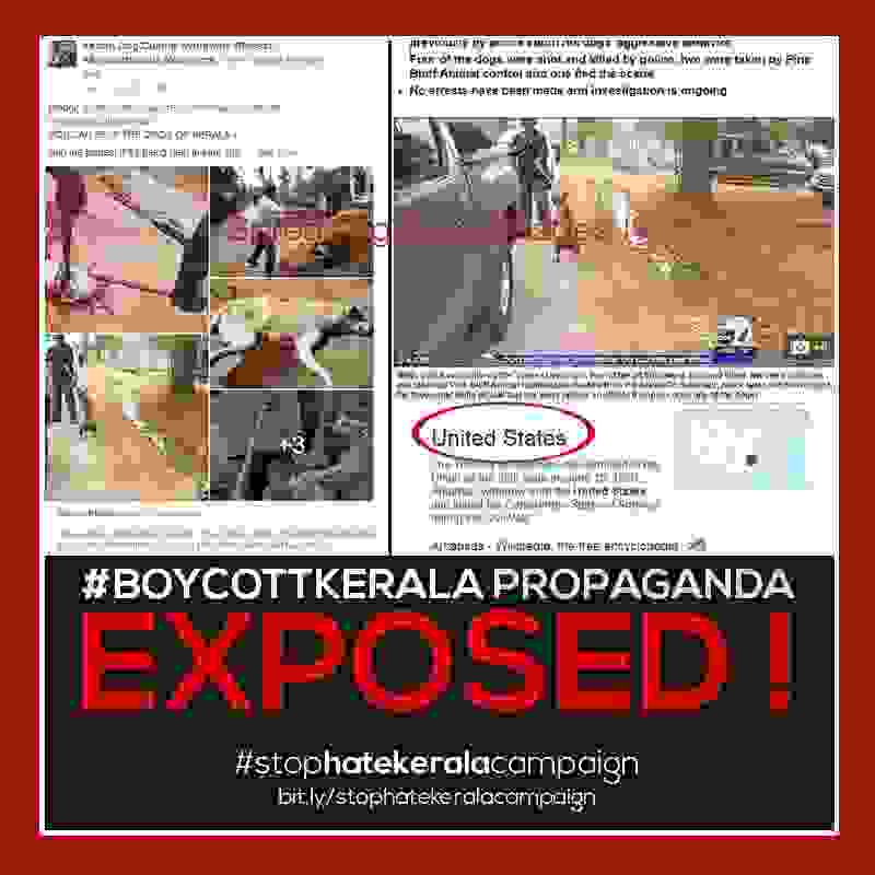 Fake propaganda images used against kerala government