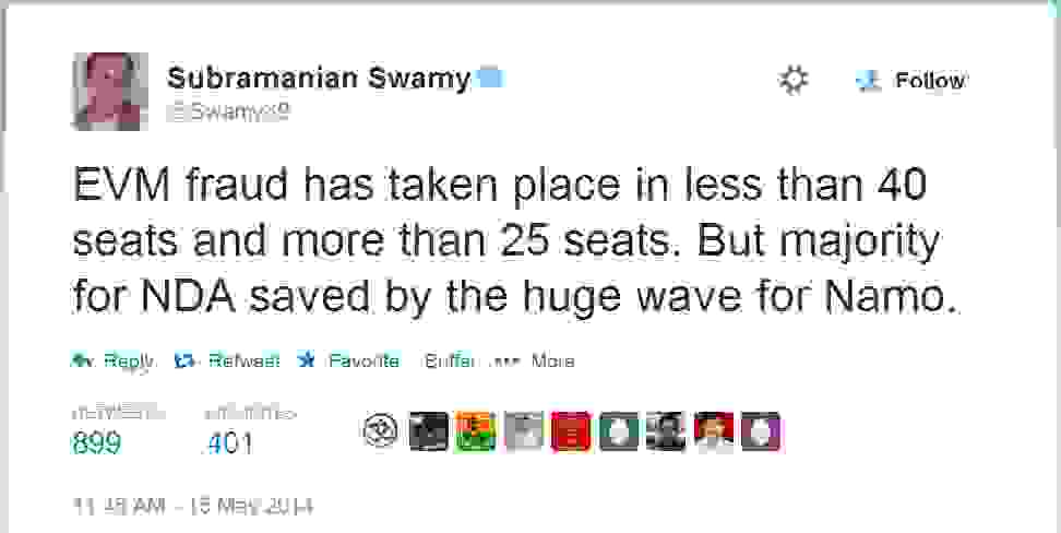 Subramanian Swamy EVM fraud