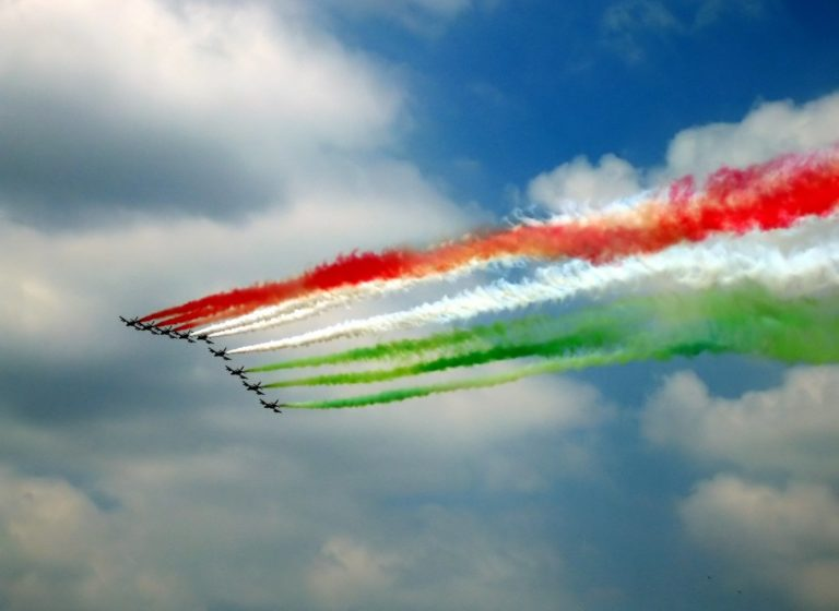 Indian Air Force tricolour flag formation flying