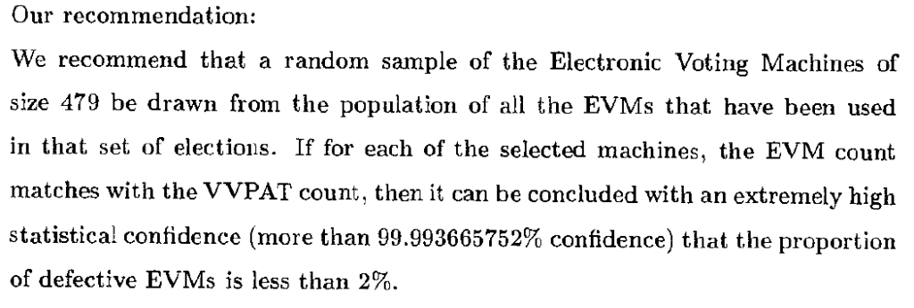 isi report on evm sampling