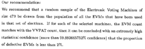 isi report on evm sampling