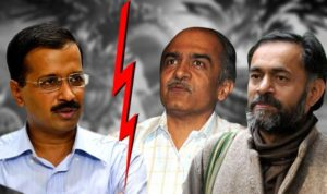Aam Aadmi Party boots Prashant Bhushan and Yogendra Yadav from PAC