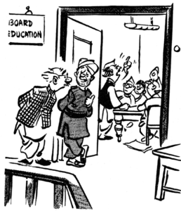 R K Laxman cartoon board education