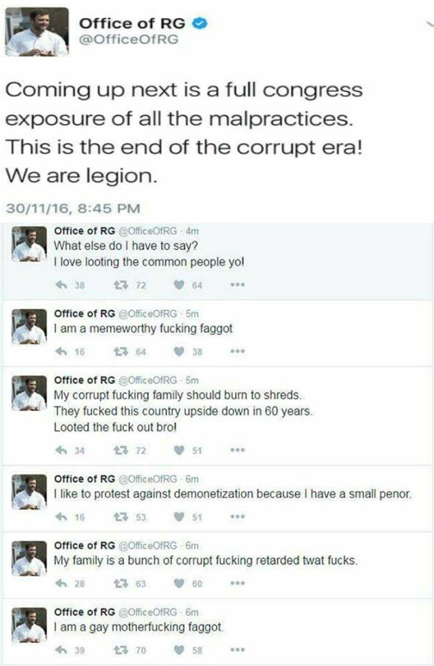 """5 things that tell you """"Legion"""" hackers are yet another BJP front 1"""
