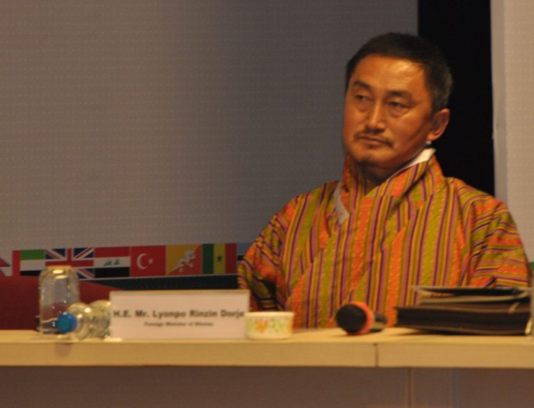 HE Mr.Lyonpo Rinzin Dorje, Foreign Minister of Bhutan