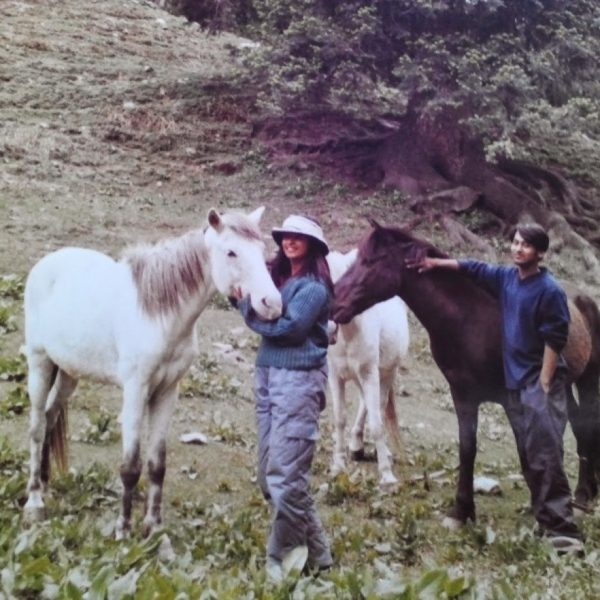 Vidyut and Nitin with their horses