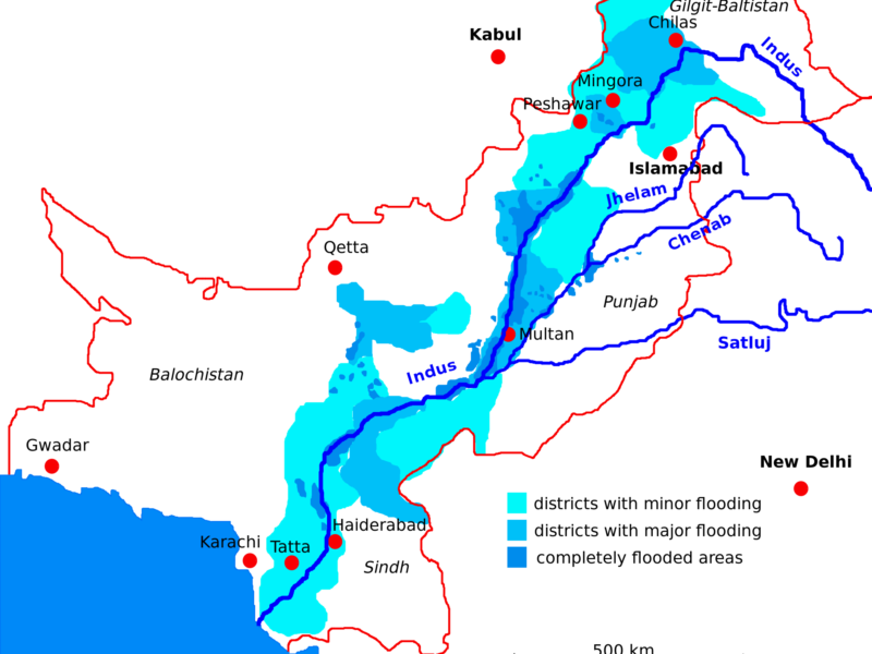 Indus flood 2010 in Pakistan