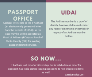 Aadhaar as a backdoor to Indian citizenship