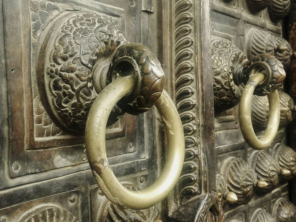 Detail of door of Patna Museum