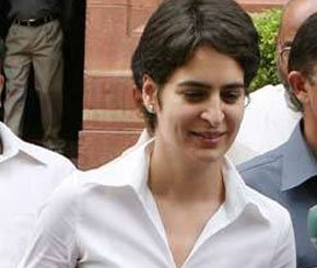 Priyanka Gandhi's normal look.