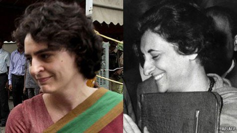 <strong class='StrictlyAutoTagBold'>Priyanka Gandhi</strong> looking same like Indira Gandhi