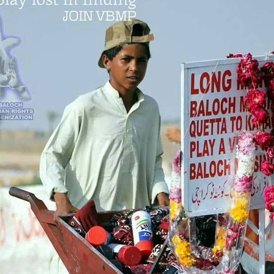 Hydar Ali is 10 years old boy. He walked 750 km for the sake of his people who suffer as the result of Pakistani brutalities.
