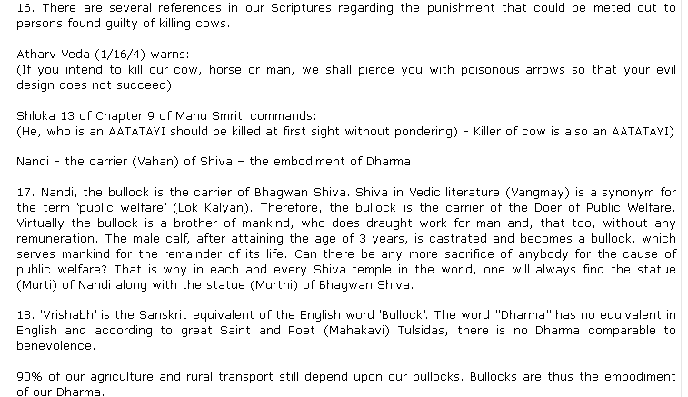 BJP MLA Raja Singh shared recommendations of punishment for cow slaughter as per the vedas