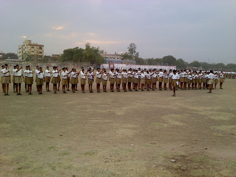 Rashtriya Swayamsevak Sangh drill at Nagpur