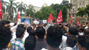 Republican Panther protest Gauri Lankesh's murder at Fort Mumbai