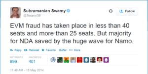 Subramanian Swamy EVM fraud