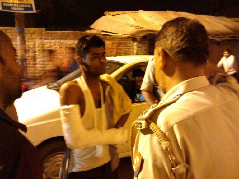 AAP volunteer Shafi ul Vara injured in attack by BJP thugs