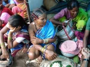 Tribal women at Weekly Village Market of Farasgaon (Bastar)