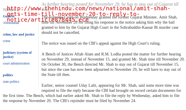 Did Uday Lalit represent Amit Shah? Before