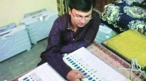 EVM taken home by officer on election duty in Varanasi